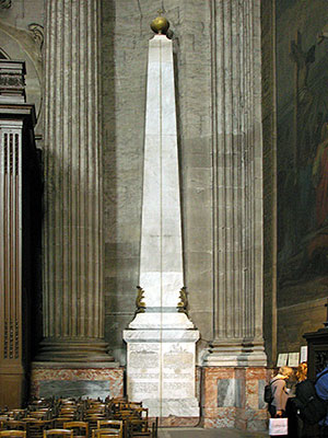 "The astronomical gnomen, and the ""Rose Line"" inside the Saint-Sulpice Church"