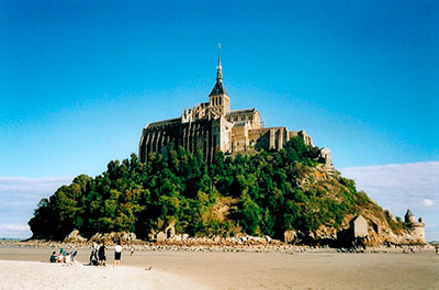 Mont Saint-Michel: a Gothic-style Benedictine abbey dedicated to the archangel Saint Michael.
