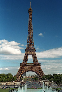 The Eiffel Tower seen from the champs de Mars