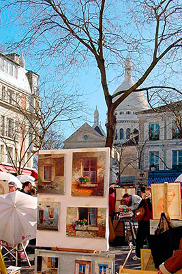 The Place du Tertre gets its name from the fact that it is situated on top of a tertre, which means a small hill. Famous the world over for its painters, portraitists and terraces.