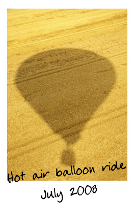 Hot air balloon ride over fields and forests not far from Paris.