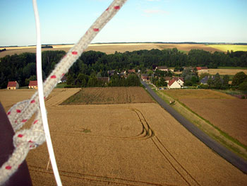 Magical hot air balloon ride near Chartres