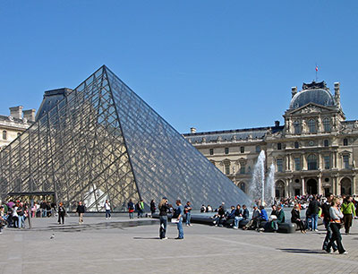 In the Louvre Museum, see the Mona Lisa, the Winged Victory, the Venus de Milo, and others; an immense treasure of paintings and artifacts