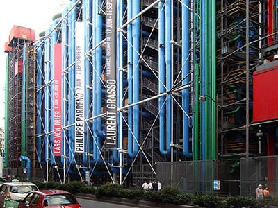 Pompidou Center houses the National Museum of Modern Art